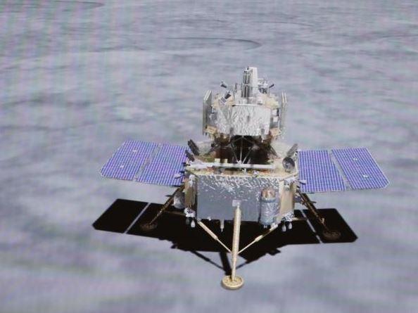 嫦娥五号成功着陆_将在月球预选区域开展月面采样工作